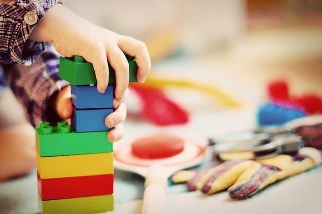Child with Blocks